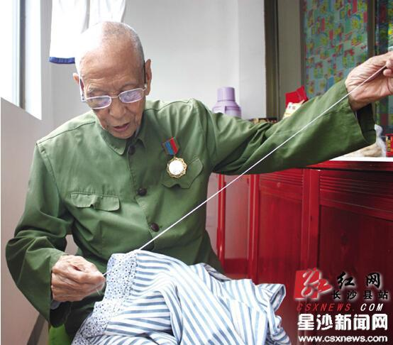 长沙县福临镇95岁抗战老兵:回家感觉真好|黄老