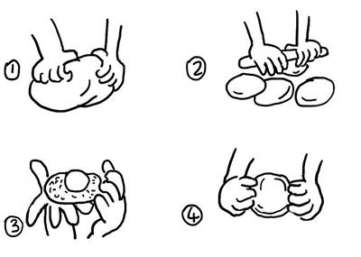 月饼简笔画步骤图解
