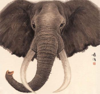 写画可爱的大象