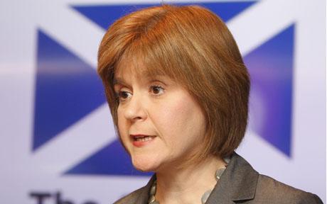 图为独派苏格兰国家党副党魁斯特金。