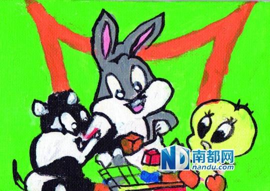 滚动新闻  原标题:迷你数字画:涂鸦背后的童心                  动物