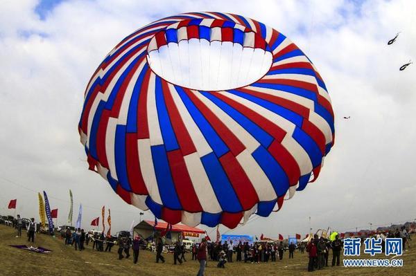 滚动新闻  原标题:江苏如东举办国际风筝会