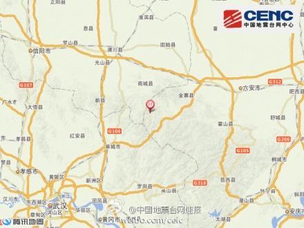 安徽六安市金寨县发生3.1级地震 震源深度5千米