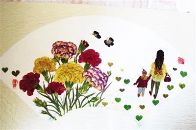 《十二金钗》压花作品,在中国园艺协会压花比赛中获得优秀奖.图片