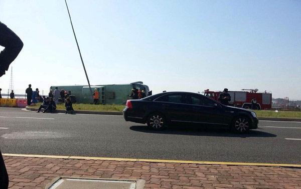 图为事故现场照片。东方网/微博图片