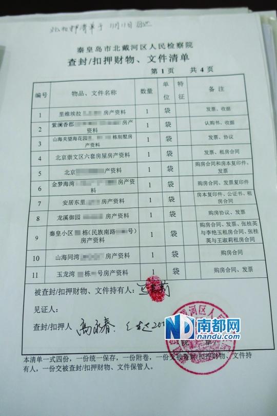 至于68套房产手续,扣押清单显示包括北京三里屯附近的一家公寓式酒店和崇文门附近的6套房屋。