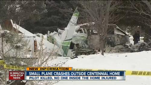 美国丹佛一小型飞机坠毁
