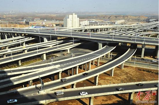 中州大道互通式立交桥-郑州都市区 十大建设项目 评选 市民推荐三环快