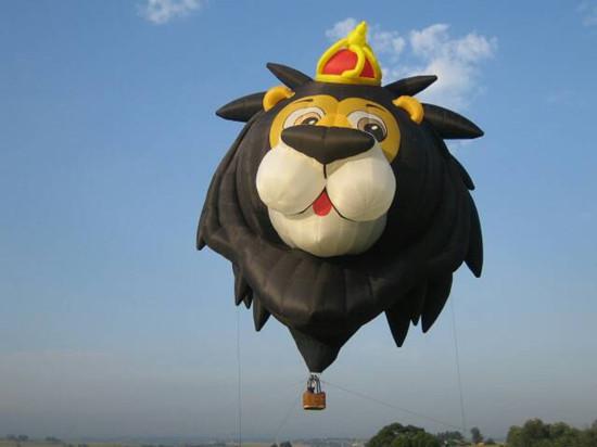 """台南花卉热气球嘉年华 超萌""""狮子王""""将升空(图)"""