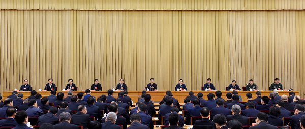 1月20日,中央政法工作会议在北京召开。中共中央政治局委员、中央政法委书记孟建柱出席会议并讲话。郝帆/摄影