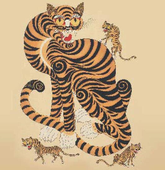 老虎剪纸简单步骤图解