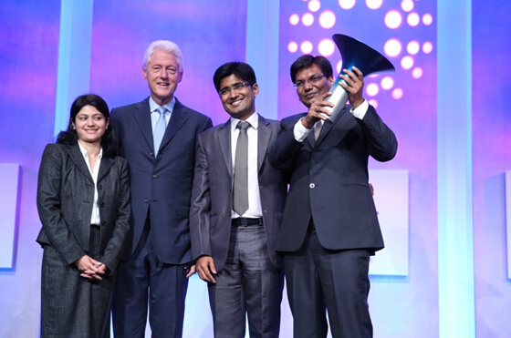 图:2014年霍特奖全球冠军、来自印度商学院NanoHealth项目的首席执行官Manish Ranjan