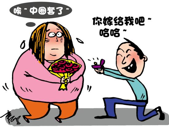 男子把女友养肥并求婚