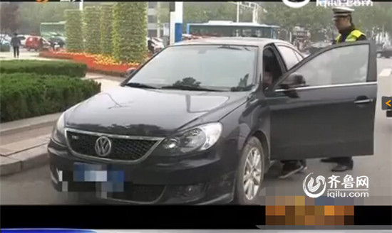 最终该司机被处以罚款1000元人民币(视频截图)