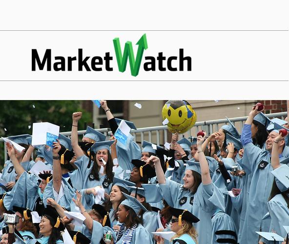 美国大学毕业生比高中生一生多赚100万美元图片