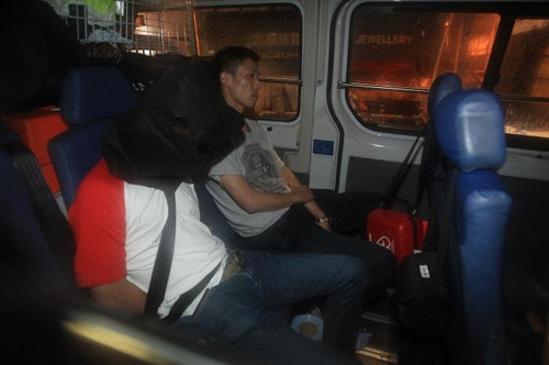 行劫男子落网。(图:香港《星岛日报》网站/黄文威摄)