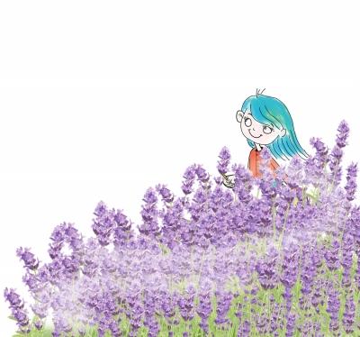 动漫紫色风景唯美图片
