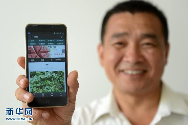 西瓜上市季节,工作人员给每一个即将成熟的西瓜都贴上了二维