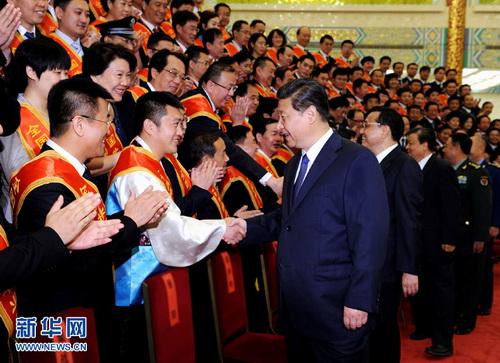2014年5月27日,党和国家领导人习近平、李克强、刘云山等在北京人图片