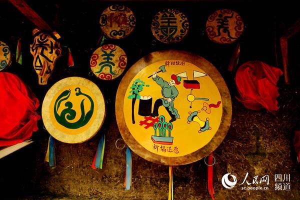 """图为被专家学者称为神秘的""""东方古堡""""的羌寨桃坪,是羌族建筑群落的蛇拳图解图片"""