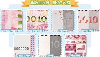 新版百元钞防伪连出7招 货币供应量不会因发行新币而增加