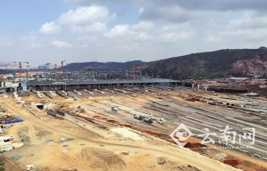 昆明火车南站初具雏形|火车|钢结构_凤凰资讯
