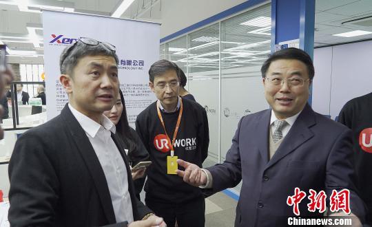 优客工场创始人毛大庆(左一) 康玉湛 摄