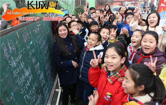 邯郸一小学举办快乐讲英语 开心炫风采活动|