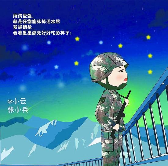 卡通中国军人头像