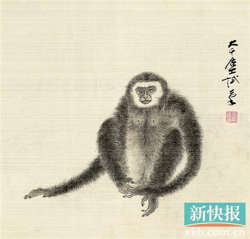 张大千猴子画作品欣赏图片 图片合集