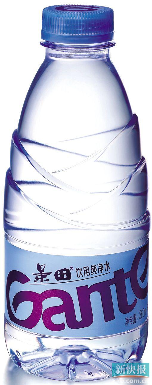 """图为景田新包装""""笋""""瓶纯净水"""