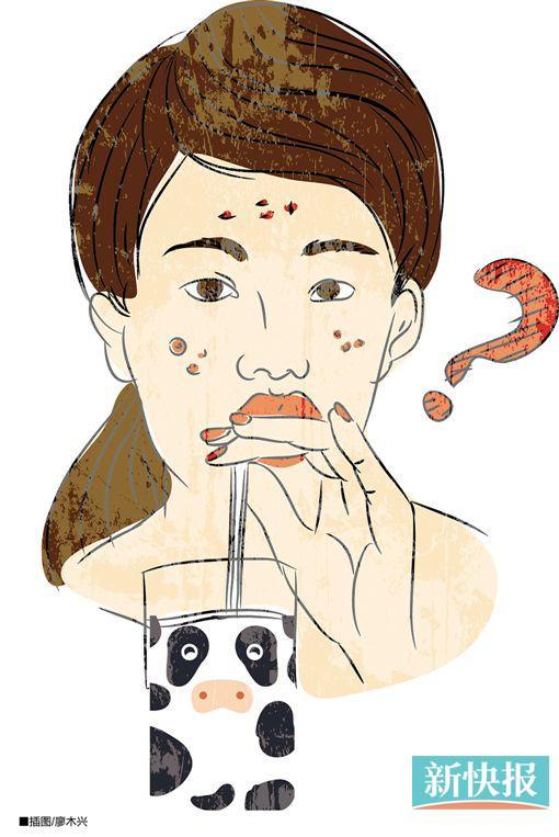 长痘痘的卡通人物图片