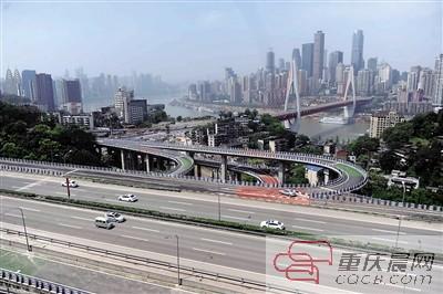 东水门大桥南立交 两匝道通车