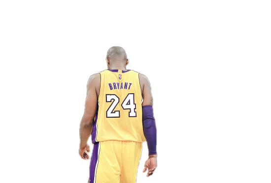 篮球明星背影手绘