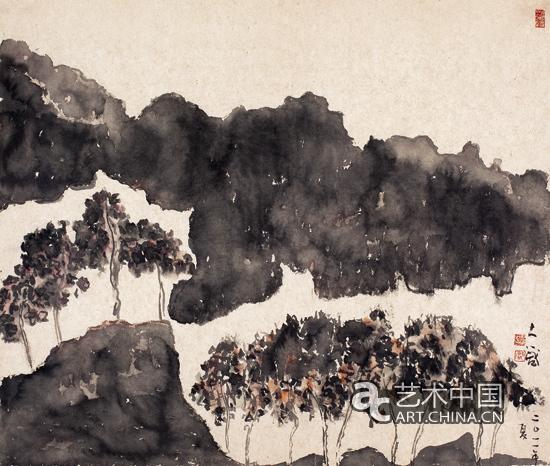 邵大箴《夏》 纸本水墨 86x75cm2012年