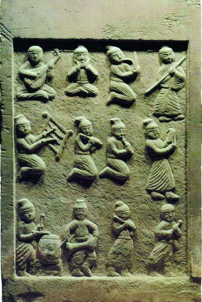 辽上京遗址出土的乐舞浮雕