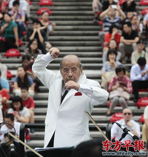 音乐会由指挥家曹鹏执棒上海城市交响乐团演奏。早报记者 高剑平 图