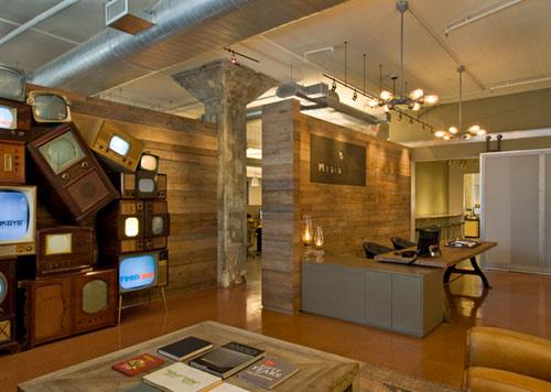 暴风媒体办公室 自然怀旧风格设计