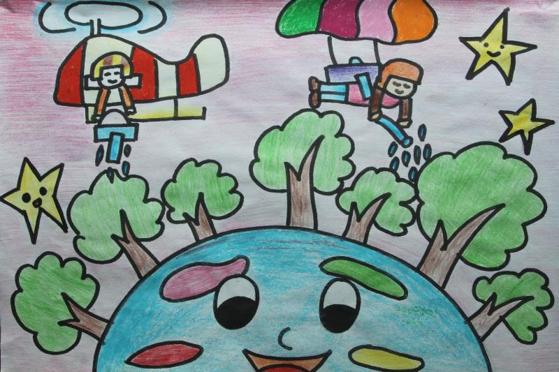 组图:首届全国民办幼儿绘画大赛作品展播