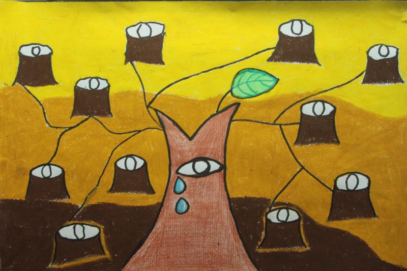 保护环境幼儿绘画作品分享展示