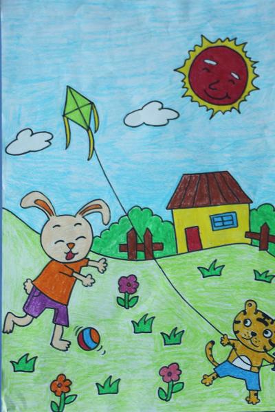 组图:首届全国民办幼儿绘画大赛作品展播图片