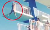 女子跳水爆笑一幕
