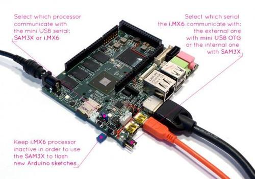 udoo同时拥有microsd读卡器以及2个usb接口,2个miniusb接口,1个hdmi接