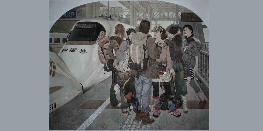 《驰骋的心》159x196(入选第十一届全国美展)