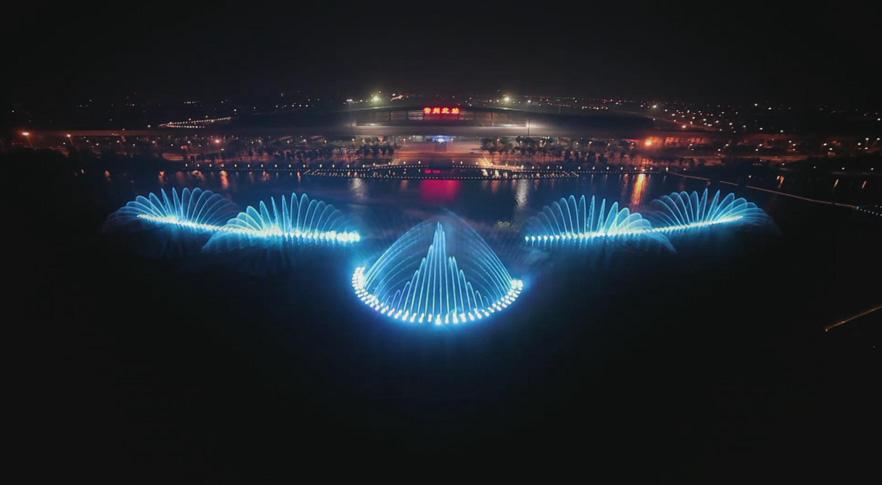 新龙湖音乐喷泉