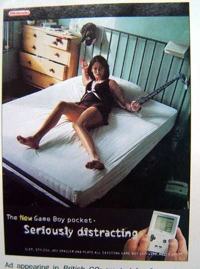 妹纸捆绑求虐 任天堂不愿提的十大奇葩广告