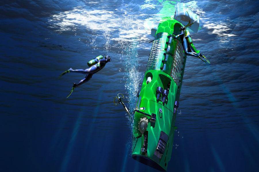 """美国是世界上最早进行深海研究和开发的国家,""""阿尔文""""号深潜器曾在水下4000米处发现了海洋生物群落,""""杰逊""""号机器人潜入到了6000米深处。1960年1月,美国的""""迪里雅斯特""""号潜水器首次潜入世界大洋中最深的海沟——马里亚纳海沟,最大潜水深度为10916米。"""