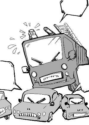 消防漫画手绘简单