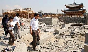 山西大同百亿元造城烂尾 城墙建设陷入半停滞状态