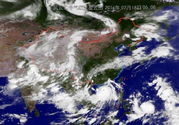 """消息显示,北京时间18 日06 时,强台风""""威马逊""""中心位置: 北纬"""